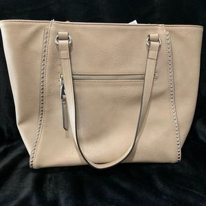 Inc medium beige tote with removable wallet